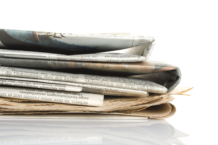 writing western: Tutu news newspapers  Isolated on white