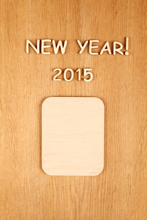 Wooden calendar calendar for the new year 2015  photo