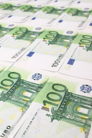 dinero euros: Primer plano de los billetes de ? 10. Dinero Foto de archivo