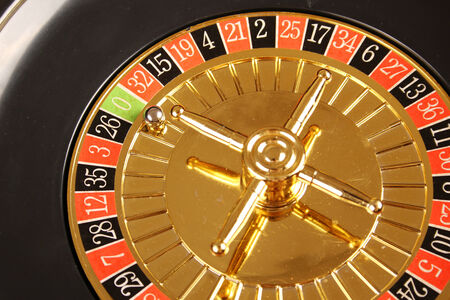Close up of casino roulette Cales. Background photo