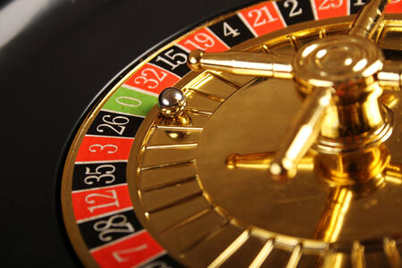 roulette wheel: Close up of casino roulette Cales. Background