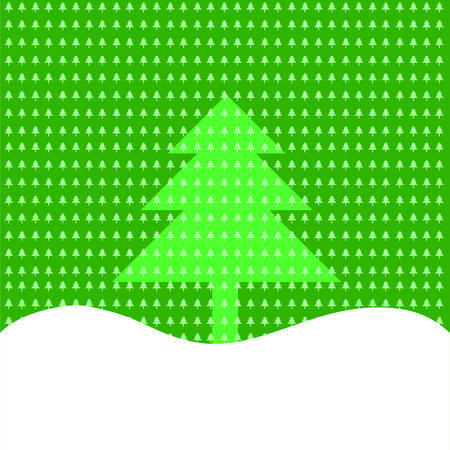 snowdrift: Christmas or New Year background of Christmas trees and snow-drift