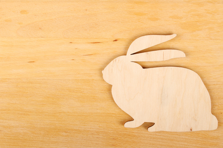 rabbit silhouette: Rabbit silhouette Stock Photo
