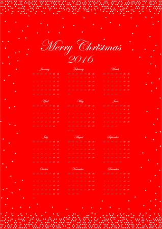 meses del año: Calendario para el año 2016. Todos los 12 meses