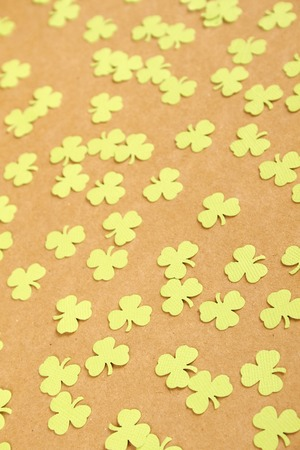 saint patty's: Background for St. Patricks Day. Silhouettes of green clover