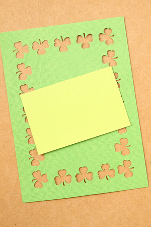saint pattys: Background for St. Patricks Day. Silhouettes of green clover