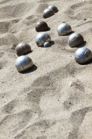 bocce: Balls for playing bocce on the sand