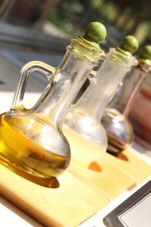 acetic: Olive oil, lemon juice and pomegranate vinegar for salads