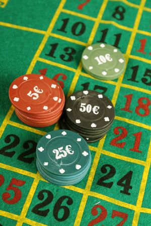 roulette table: Close up of casino roulette table. background