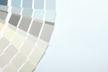 Veer of a palette of paints for an interior. 写真素材 - 104199644