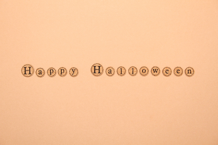 Letters written the text of a happy Halloween. Holiday Wallpapers
