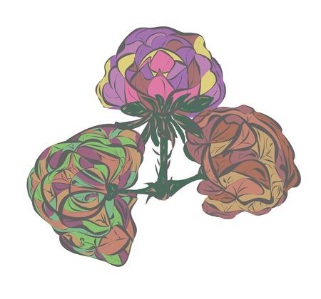 invented: shrub invented decorative painting rode