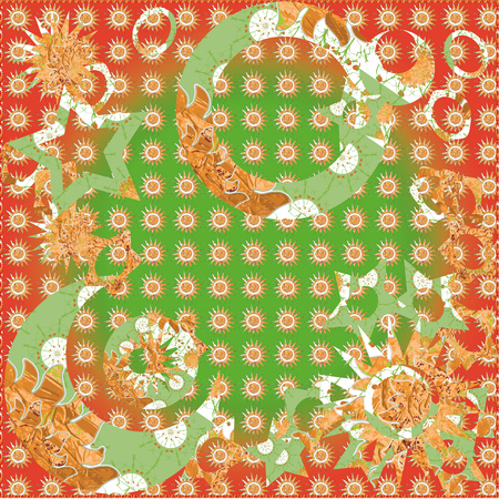 stamped: Simple stamped patterns Christmas and new year background colors green and red gold