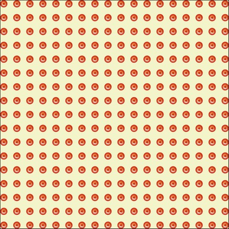 Print patterned red circles white yellow sun seamless texture. Ilustrace