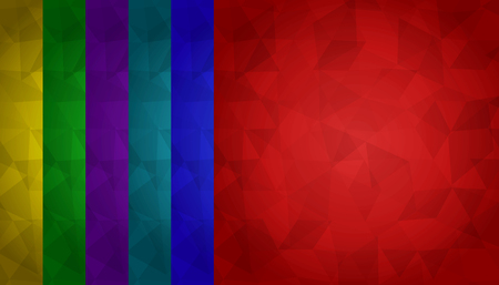 fond: abstract geometric background of triangles on colorful fond. 6 colors included Illustration