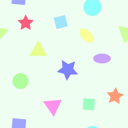 primitivism: Simple seamless pattern with geometric figures for children room. illustration. Illustration