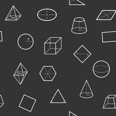 Seamless geometry science flat pattern. Vector illustration. Imagens - 56768389
