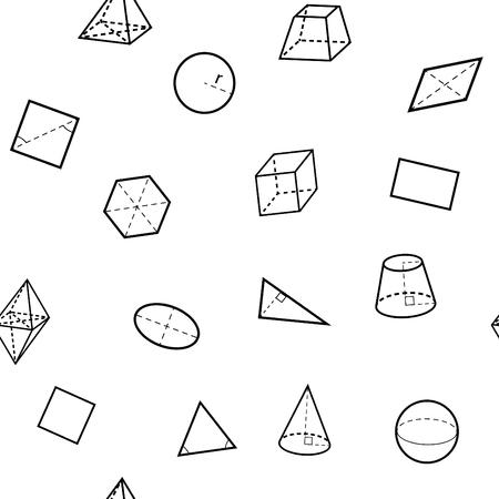 Seamless geometry science flat pattern. Vector illustration. Imagens - 56768390