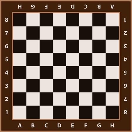 チェス盤の背景。空のチェスボード。チェスを再生するためのボードです。