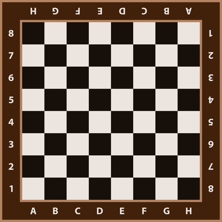 Chessboard background. Empty chess board. Board for chess playing.