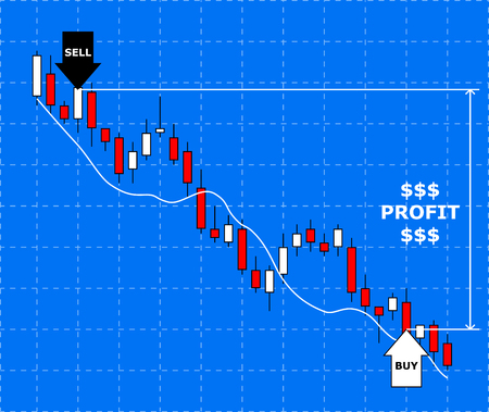 stock price losses: Forex chart. Concept of forex trade profit. Growth forex diagram.Vector illustration. Illustration