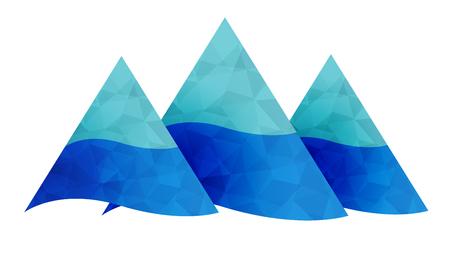 peak: Mountains icon. High peak sign.