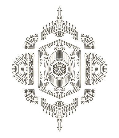 Tribal ethnic ornament. Mexican, native indian motifs. Vector illustration