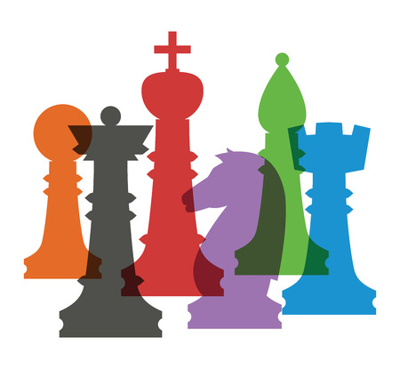 chess rook: Chess elements collection. Flat style chess figures isolated. Vector illustration. Illustration