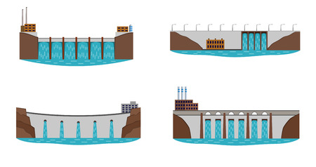 Set of hydro power station.