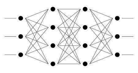 ニューラル ネット。ニューロン ネットワーク。深い学習。認知技術コンセプト。