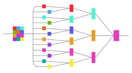 Netwerkverbinding illustratie