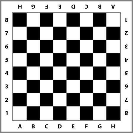 체스 판 배경입니다. 빈 체스 보드입니다. 체스 게임을위한 보드. 벡터 일러스트 레이 션.