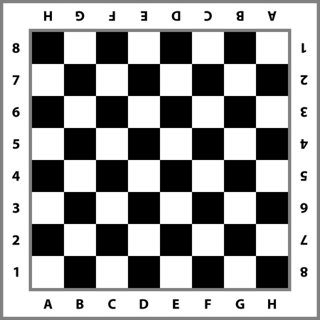 Fondo de tablero de ajedrez. Tablero de ajedrez vacío. Tablero para jugar al ajedrez. Ilustración vectorial