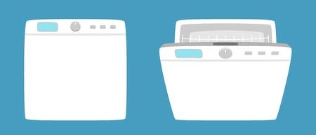 Dishwashing machine illustration