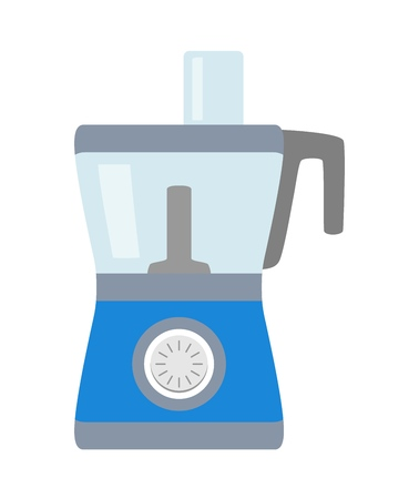 Blue food processor illustration