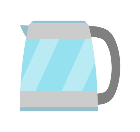 Isolated electric kettle illustration