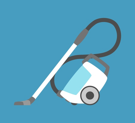 Vacuum cleaner icon isolated. Household appliance. Flat style vacuum cleaner.