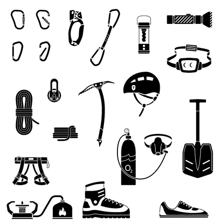 Equipment for mountaineering, climbing,  mountain adventure, extreme sports, outdoor recreation.