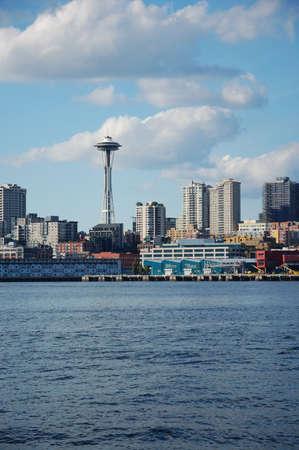 space needle: Space Needle and Skyline of Seattle, Washington