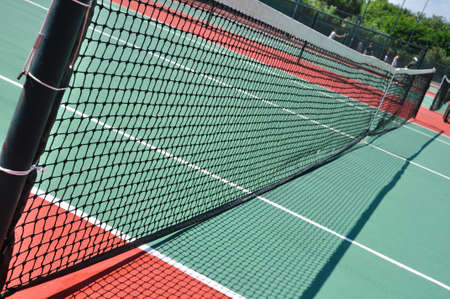 Tennis Court and Net on a Sunny Day Stock Photo - 12649479