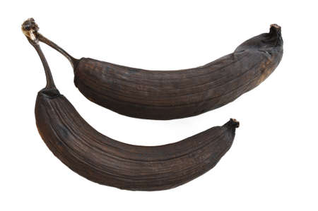 Two Rotten Banana Isolated on a White Background