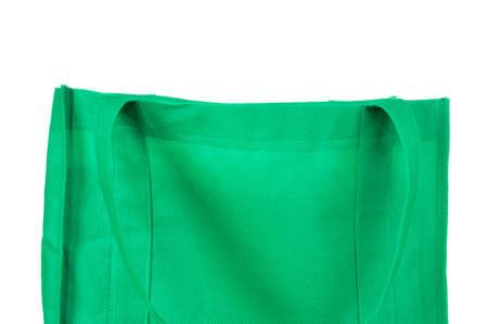 reusable: Reusable Green Bag Isolated on White