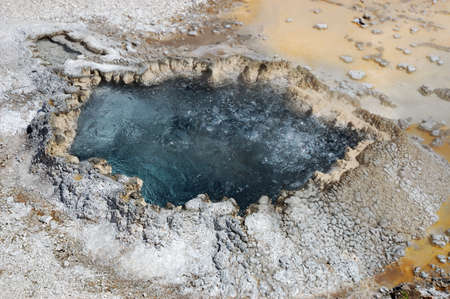 boiling: Boiling Hot Mineral Spring Yellowstone National Park Wyoming Stock Photo