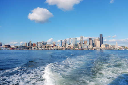 puget: Skyline of Seattle, Washington from Puget Sound