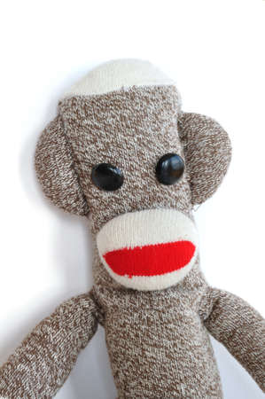 Sock Monkey Isolated on a White Background photo