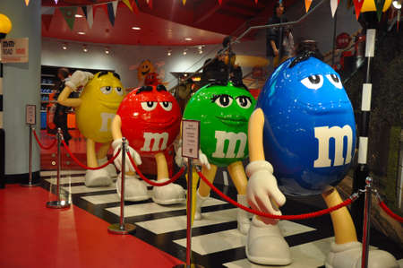 LONDON, ENGLAND - June 15: M&Ms walking like the Beatles on June 15, 2012 in London, England