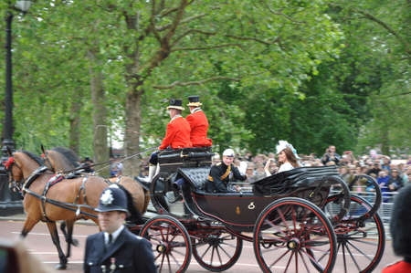 LONDON, ENGLAND - June 16: Prince William and Kate Middleton during Queen Elizabeth
