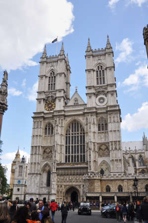 LONDON, ENGLAND - June 16: Collegiate Church of St Peter at Westminster, popularly known as Westminster Abbey on June 16, 2012 in London, England Redakční