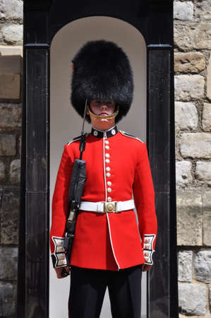 LONDON, ENGLAND - June 17: Queens Guard at the Tower of London on June 17, 2012 in London, England