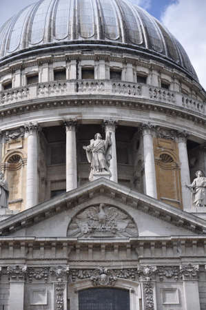 st  paul's: Dome of St. Pauls Cathedral in London England Stock Photo